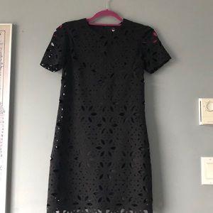 Black Trina by Trina Turk laser-cut dress